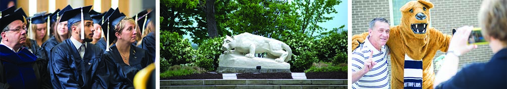 The lion and graduated students