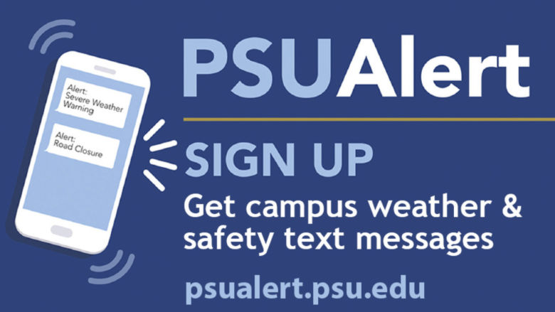 PSUAlert Sign up image.