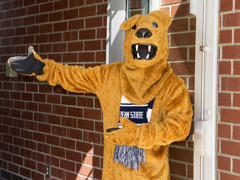 The Lion welcoming new students.