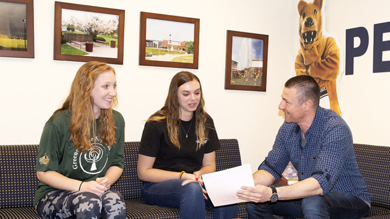 Samantha Long, Emily Blaker, and Dr. Karagiorgakis