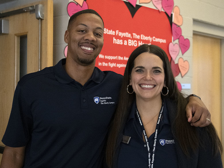 Admission counselors at our Penn State Day Open House.