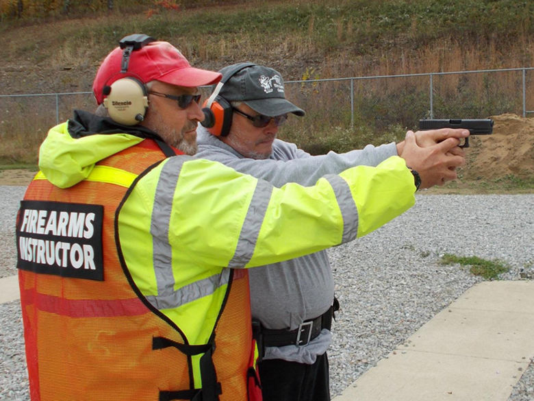 Firearms Instructor with student.