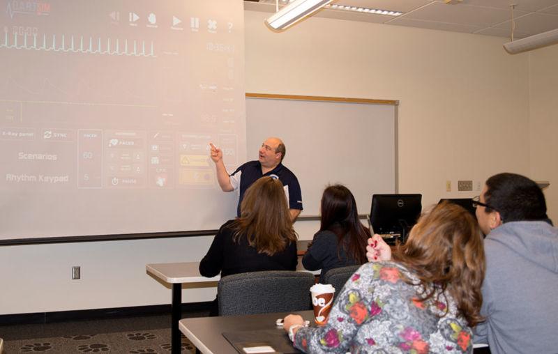 Bill teaching a paramedic class.