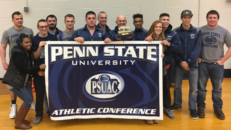 From left: Josh Godzin, Zaria Chitan, John Fedorek, Assistant Coach Kyle Martin, Ethan Kenney, Nathan Spinetti, Assistant Coach Mike Simon, Coach Jerry Simon, Michael Perdomo, Caitlyn Williams, Pedro Tavarez Jr., Lucas Baranski, and Cody Maurin.