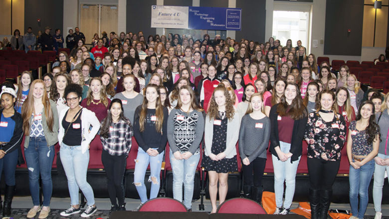 Nearly 200 young women from Uniontown, Laurel Highlands, Connellsville, and Albert Gallatin high schools attended Future4U: An Exploration of STEAM Career Opportunities for Women March 8 at Penn State Fayette, The Eberly Campus.
