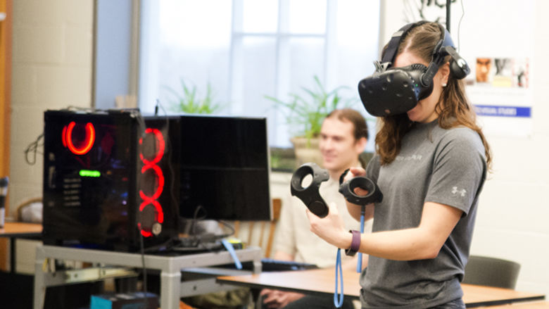 Vive VR System being demonstrated.