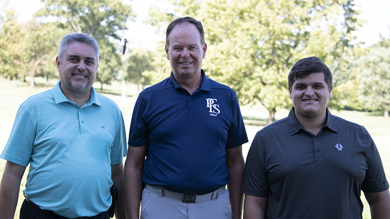 Rico Coville, general manager of Uniontown Country Club; Dave Gumbert, head coach of Penn State Fayette Golf; Paul Gabriel, director of marketing at Uniontown Country Club.