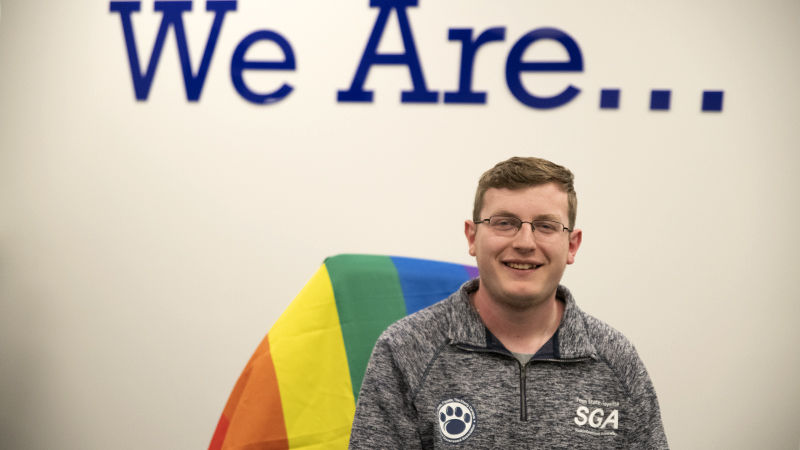 Brandon Demchak, president and founding member of Pride Alliance Working for Students (PAWS).